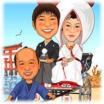 厳島神社-1 和装人力車バージョン