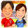 サッカー球場-1(チームユニフォーム姿)