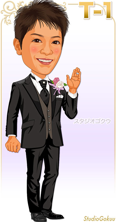 結婚式新郎タキシード見本パターン「T-1」