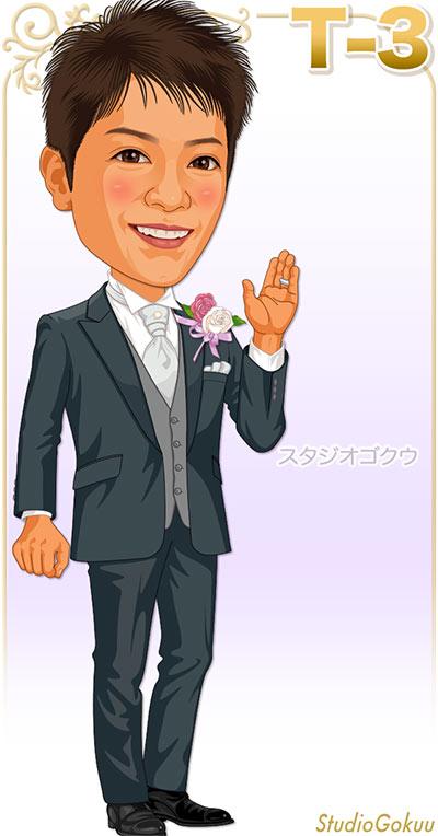 結婚式新郎タキシード見本パターン「T-3」