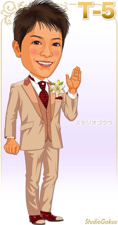 結婚式新郎タキシード見本パターン「T-5」