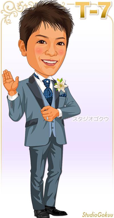 結婚式新郎タキシード見本パターン「T-7」