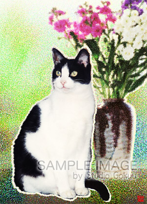 猫の絵(印象派調)
