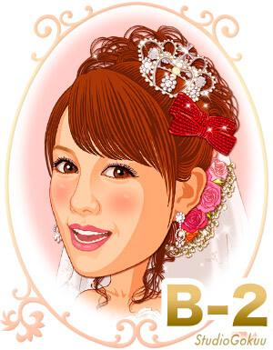 新婦髪型B-2 前髪ふんわり可愛いアップスタイル