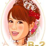 新婦髪型「B-2」カジュアルな前髪ふんわりアップスタイル(ティアラ・ベール・花飾り)