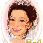 新婦髪型「B-4」 すっきりした前髪アップのカールハーフダウンスタイル