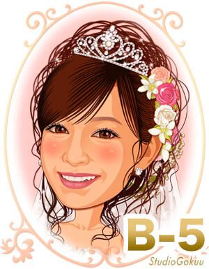新婦髪型B-5 ゆるカールのかわいいアップスタイル