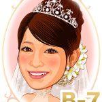 新婦髪型「B-7」 上品な夜会巻き風盛りヘアスタイル