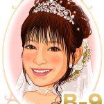 新婦髪型「B-9」 ストレートのキュートなアップスタイル