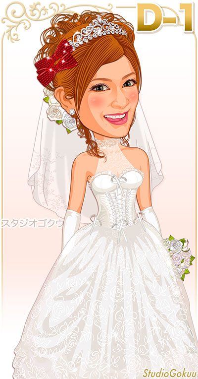 花嫁ウェディングドレスD-1-コルセットプリンセスライン