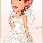 結婚式新婦ウェディングドレス「D-2」 プリンセスライン