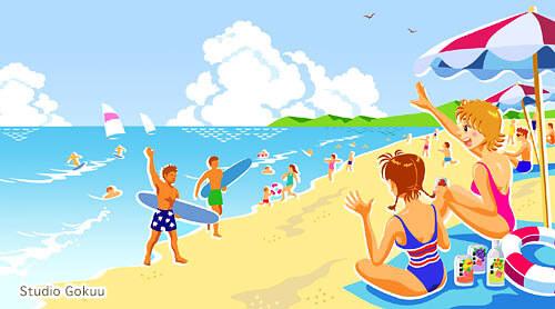 風景イラスト《海辺》