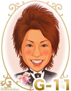 結婚式新郎髪型「G-11」 かきあげロングヘアスタイル