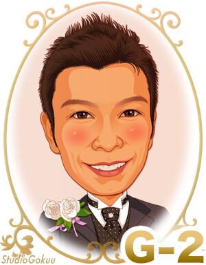 結婚式新郎髪型「G-2」 ソフトモヒカンショートヘアスタイル