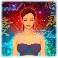 美容関連イラスト素材カット-1「瞑想する女性」