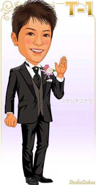 結婚式新郎タキシードT-1