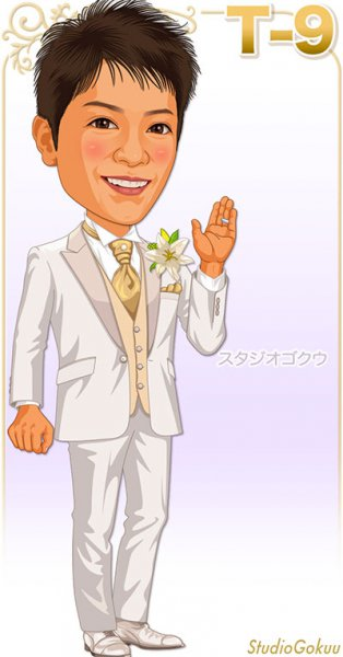 結婚式新郎白いホワイト系タキシードT-9