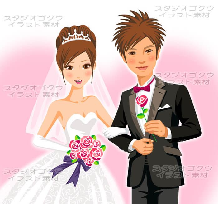 スタジオゴクウウェディングイラスト素材カット 1結婚式新郎新婦
